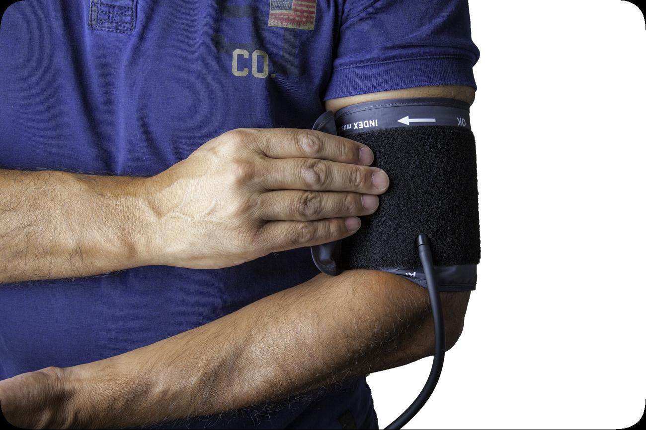 A blood pressure test