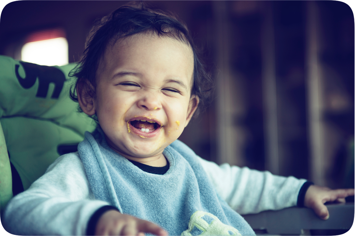 A laughing baby