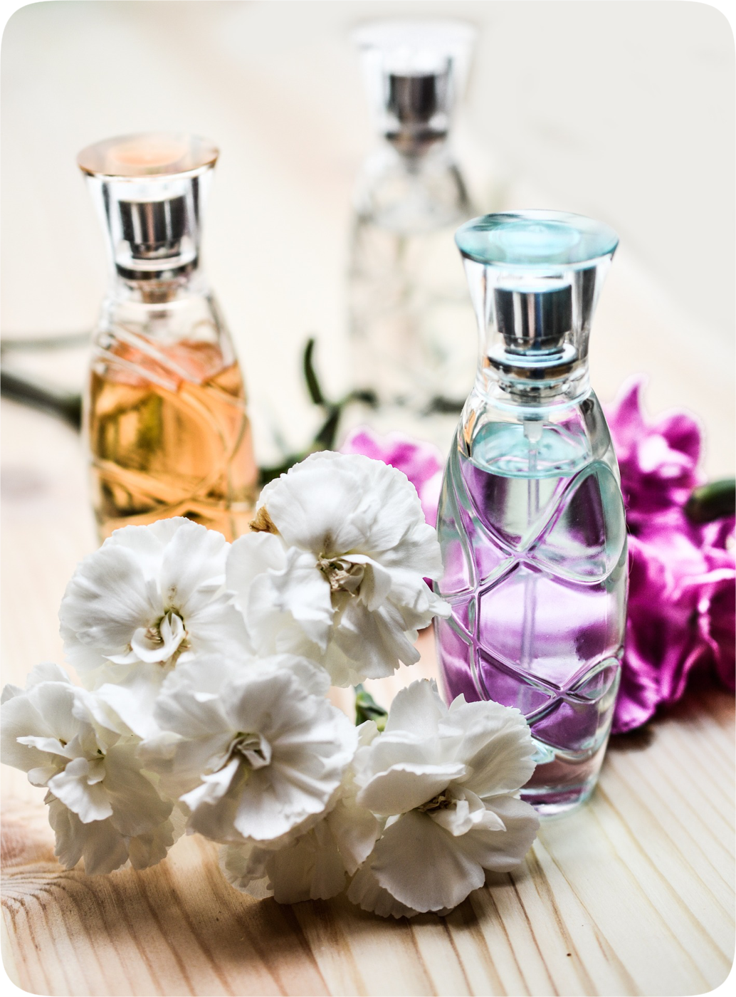 Potential allergens like flowers and perfume
